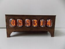 IN12 NIXIE TUBE CLOCK VINTAGE Pulsar ASSEMBLED ADAPTER 6-tubes by RetroClock