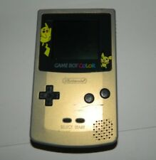 Nintendo Game Boy Color Gold Pokemon Handheld System GBC
