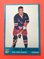 Andy Bathgate 1962-63 Topps #52  Vintage Hockey Card