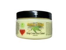 Organic AHA Hemp Face Cleanser Creme All Natural Vegan Paraben Free 4 oz Jar