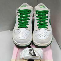 NIKE 2004 DUNK LOW PRO SB White x Green Men's Sneakers 27.5 cm US 9.5 Rare Used