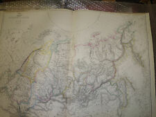 Russia in Asia Dispatch Atlas 45 x62 cm pic1863 Engraved by SW LowryFramed40more
