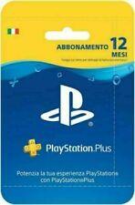 PlayStation Plus Abbonamento 1/3/12 mesi 1 anno - Italia - Codice Autentico