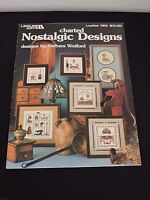 Leisure Arts Nostalgic Designs Cross Stitch Pattern Booklet Antiques Sewing