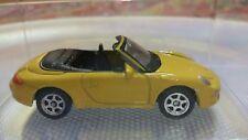 Modellino giallo WELLY PORSCHE 911 (997) CABRIO CARRERA S + TECA