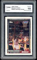 1992 Michael Jordan Topps Starting Line Up gem mint 10 #58SL