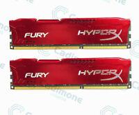 For 16GB 2X 8GB Kingston HyperX PC3-12800 DDR3-1600MHz DIMM Red Desktop Memory U