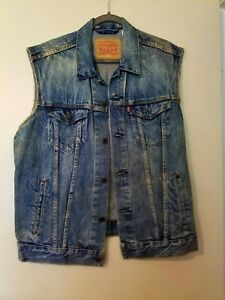 NEW MENS or woman LEVIS vintage style distressed JEAN large vest