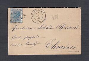 ITALY 1874 20C ISSUE ON COVER CASTEGGIO #727 TO CHIAVARI