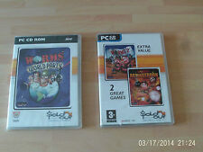 worms world party & worms armageddon & worms 2   new&sealed