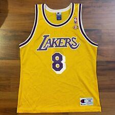 Champion NBA Los Angeles LA Lakers #8 Kobe Bryant Sz 40 Black Mamba Rare Jersey