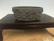 "Handmade Yamaaki Drum Shohin Size Bonsai Tree Pot 3 3/4"" Great Piece"