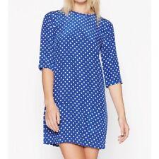NWT Equipment Blue White Polka Dot Silk Dress - Small
