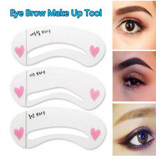 3Pcs Set Eyebrow Model Stencil For Eye Brow Template Drawing Shape Make Up Tool