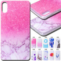 For Apple TPU Pattern Cute Soft Clear Back Case Cover Silicone Protective Skin