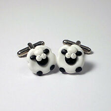 sheep cufflinks farmers ball , weddings , fathersday xmas gift ideas