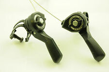 PAIR VINTAGE SHIMANO MTB TOP SHIFTERS SUIT 15,18, 21 SPEED NON INDEX GEAR SYSTEM