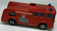 Matchbox Lesney Superfast No 35 Merryweather Fire Engine Metallic - Near Mint