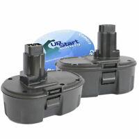 2X Battery for Battery for DeWalt DC9098 - 1300mAh, NICD, 18V