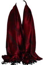 Châles/écharpe rouge avec des motifs Cachemire pour femme