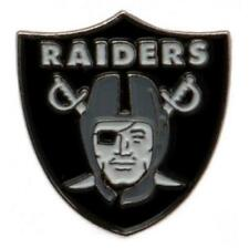 NFL Oakland Raiders Club Crest Metal Pin Badge With Stud American Football Xmas