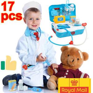 Kids Children Role Play Doctor Nurse Toy Medical Set Kit Gifts & Hard Carry Case