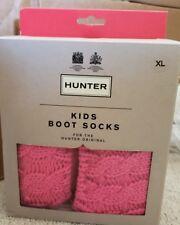 NEW Hunter Boot Socks, SizeXL, Cable KnitION Pink Herringbonelike Cuff