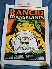 Rancid / Transplants 2013 tour poster signed by artist Ernie Parada #d 43/215