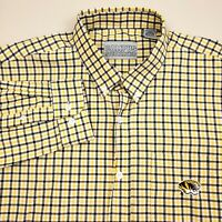 Missouri Tigers Shirt Mens Size Large Long Sleeve Check Black Gold MISSOU MU