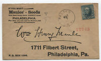 1895 Belden NY 10ct small banknote Maules' Seeds ad cover registered [y1433]