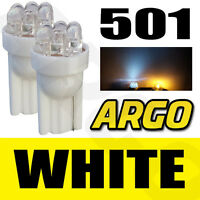 2 x 501 W5W T10 WHITE 6 LED SIDE LIGHT BULBS CAPLESS 12V INTERIOR NUMBER PLATE