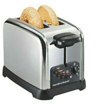 Hamilton Beach 2 Slice Crome Electric Kitchen Toaster Maker 800 watt New