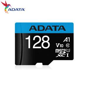ADATA Premier 128GB 256GB microSDXC Memory Card C10 UHS-I A1 V10 +Adapter