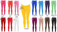 Lz25 WOMENS LADIES COLOURED SKINNY FIT STRETCH JEANS JEGGING TROUSERS PLUS SIZE
