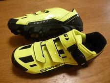 Chaussures VTT MTB Louis Garneau Slate, couleur jaune HiViz, pointure 43