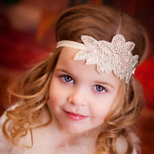 Crystal Flower Headband Hair Bow Band For Baby Girls Infant Toddlers Kids DSUK*