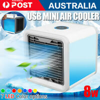 1/2x Small Fan Cooling USB Rechargeable Air Conditioner Portable Cooler Desktop