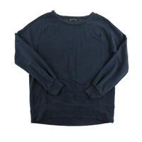 Athleta Womens Long Sleeve Sweater TShirt Black Casual Crew Neck Size Small