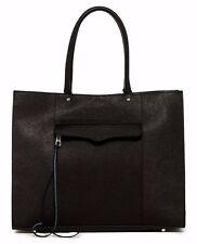 NWT Rebecca Minkoff 'Large MAB' Leather Tote, BLACK