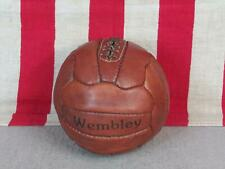 Vintage Wembley Brown Leather Soccer Presentation Ball w/Laces Mini Trophy Ball