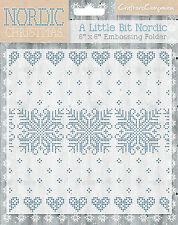 Un poco Crafters Companion nórdico-Nordic Navidad 6x6 Carpeta de grabación en relieve