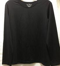 By CHICO'S Women's Black Slinky Travel Top Stretch Nylon Spandex Long Sleeve 2