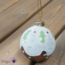 Adornos de bola de vidrio color principal blanco para árbol de Navidad