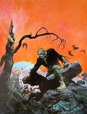 Vintage Frank Frazetta Art Beyond Grave Color Plate Zombie Wolfman Frankenstein
