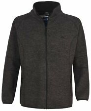 Trespass Men's Rich Full Zip Warm Fleece Jacket - Black - Small