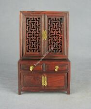 display China red suan-zhi wood rosewood new Miniature wood furniture cupboard