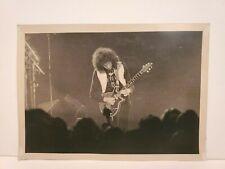 BRIAN MAY QUEEN GUITAR PLAYER PHILADELPHIA SPECTRUM CONCERT B&W PHOTO 11/23/77