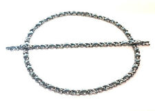 WOMENS Stainless Steel Silver Tone Womens Love Heart Chain Necklace Bracelet Set