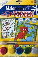 Mammut Kinder Malen nach Farben ausmalen PPCM4 Katzen Katze