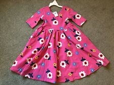 Hanna Andersson Soft Skater Super Twirl Dress Pink Spring Daisy 90 3t 3
